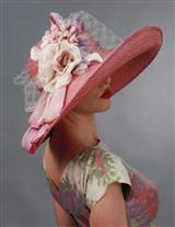 Louise Green Blushed Rose Hat