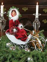 Byers' Choice Woman In Sleigh