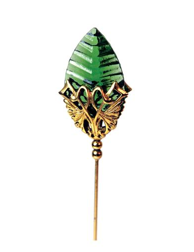 Emerald Palm Hatpin