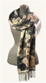 Cashmink Scarf (Chicory & Tea Roses)