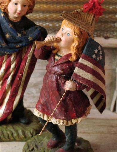 Patriotic Figurines (Haley's Horn)