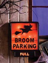 Lighted Broom Parking Sign