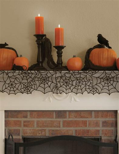 Cobweb Table Runner/mantel Scarf