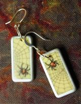 Arachne's Dominoe Earrings