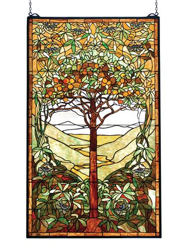 Tree Of Life Leaded Glass Panel