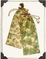 Holly & Pinecone Shimmering Pouches (Set Of 8)