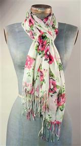 Pink Roses Scarf