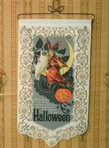 Halloween Witch Lace Banner