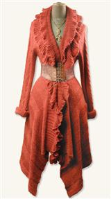 Burnt Orange Ruffle Cardigan