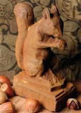 Ol' Dixie Squirrel Finial Doorstop
