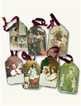 Tintype Tag Ornaments (Set Of 7)