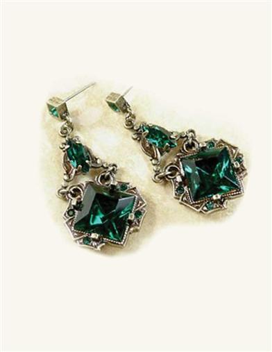 Dubliner Faux Emeralds Earrings