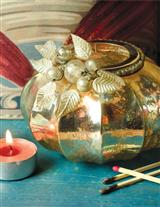 Antiqued Mercury Glass Tealight Holder