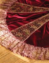 Rosegold Lace & Velvet Tree Skirt