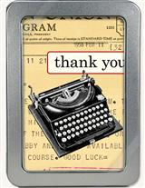 Typewriter Thank You Cards