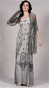 Grecian Empire Dress With Wrap