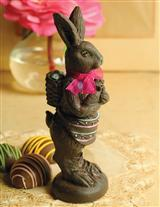 Faux Dark Chocolate Rabbit