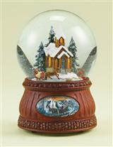 Sleigh Ride Church Snowglobe