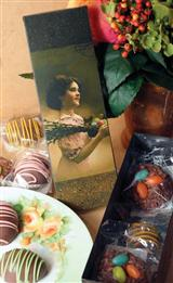 Chocolate Confections & Tin Candy Box