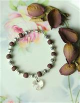 Crushed Rosepetals American Beauty Bracelet