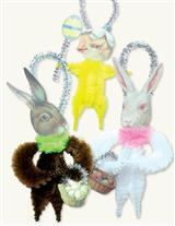 Easter Chenille Ornaments (Set Of 3)