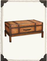 Old Map Trunk Table