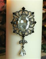 'Pillar Pins' Candle Jewelry (Crystal)