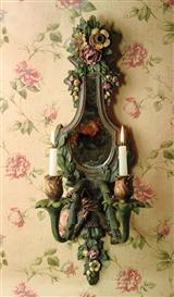 Thorntree Castle Mirrored Wall Sconce