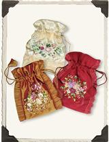 Ribbon Roses Gift Pouches (Set Of 3)