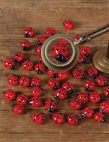 Glass Ladybugs (Set Of 10)