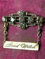 Good Witch Bad Witch Brooch