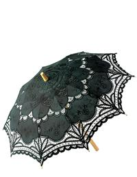 Battenberg Lace Parasol (Black)