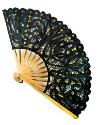 Lace Fan (Black)