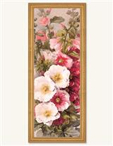 Hollyhocks Framed Print New Frame