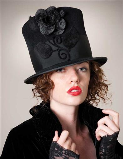 Louise Green Madame Hatter Hat
