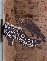 Raven Shoe Polish Tin Sign