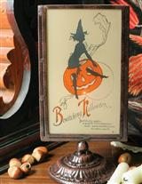 Bewitching Halloween Candle Screen