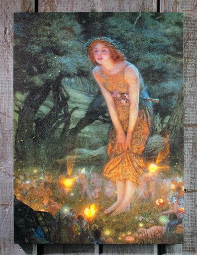 Lighted Fairy Canvas