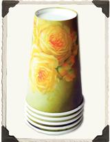 Buttery Roses Paper Cups (Set Of 16)