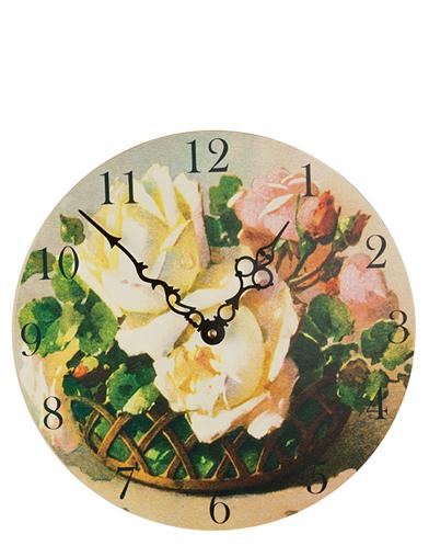 Cabbage Rose Clock