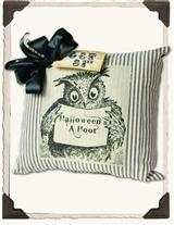Pillow Ticking Owl Cushion