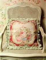 Babette's Bouquet Needlepoint Pillow