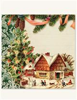 December Of Yesteryear Holiday Napkins