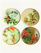 Holly Coasters (Set Of 4)