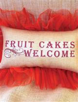 Frilly Fruit Cake Pillow