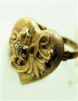 Love At Hand Heart Locket Ring