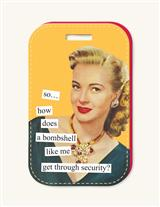 Anne Taintor Luggage Tag (Blonde Bombshell)