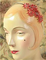 Iced Poinsettia Headband (Crimson)