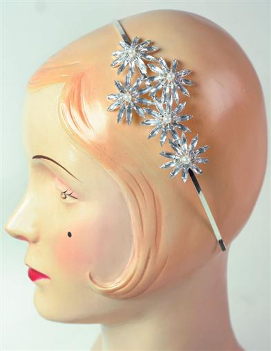 Crystal Iced Poinsettia Headband
