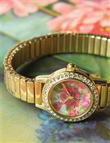 'May Time' Crystal Watch (Gold)